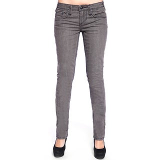 Stitch's Women's Slim Fit Grey Straight Leg Denim Jeans