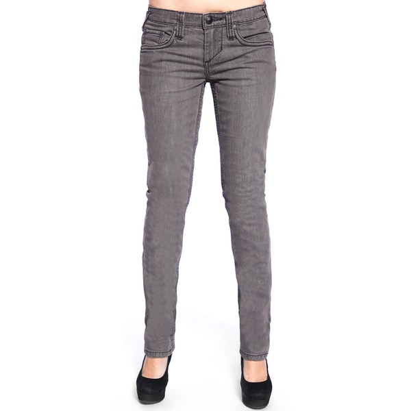Stitchaposs Womenaposs Slim Fit Grey Straight Leg Denim Jeans image