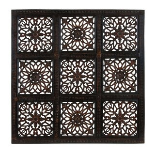Classy Wooden Wall Panel with Abstract Design and Rustic Finish