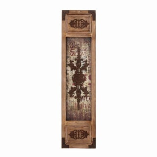 Old World Charm Metal and Wood Rustic Wall Panel