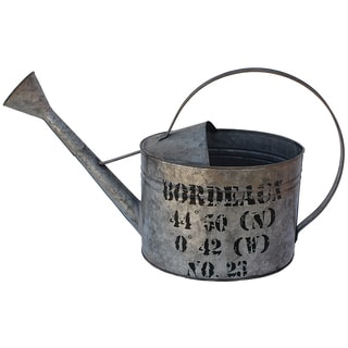 Aged Silvertone Bordeaux Watering Can