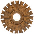 French-style Round Rouen Mirror
