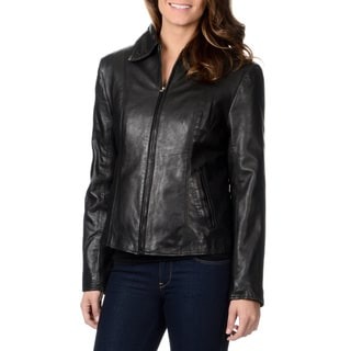 Whet Blu Women's Leather Jacket with Removable Lining