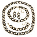 Toscana Collection Double Curb-Link Jewelry Set