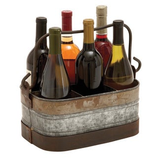Galvanized Six-compartment Wine Holder