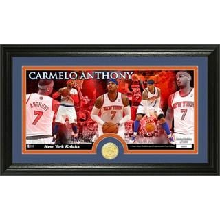 Carmelo Anthony New York Knicks Bronze Coin Panoramic Photo Mint