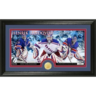 New York Rangers Henrik Lundquist Bronze Coin Panoramic Photo Mint