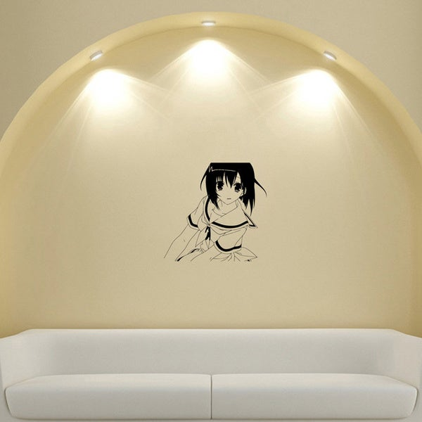 Japanese Manga Girl Schoolgirl Vinyl Wall Sticker