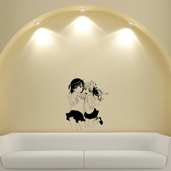Japanese Manga Girls Skirts Vinyl Wall Sticker