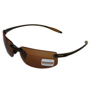 Serengeti Lipari Unisex Sunglasses Shiny Brown with Polarized Lenses 7807