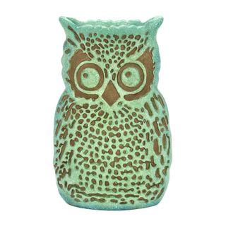 15-inch Gloomy Owl Polystone Vase