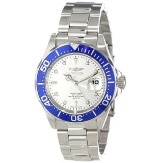 Invicta Men's 'Pro Diver' Stainless Steel Blue Dial Watch