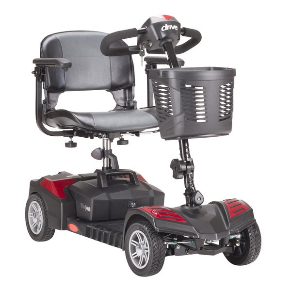 Drive Medical Spitfire Scout DLX 4 Wheel Compact Travel Scooter