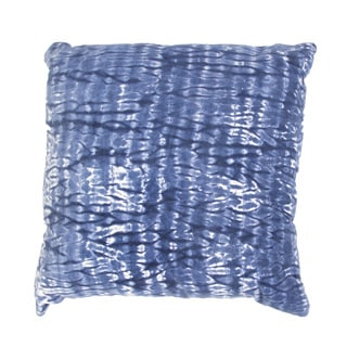 Handmade Blue Tie-Dye Cotton 18x18-inch Pillow