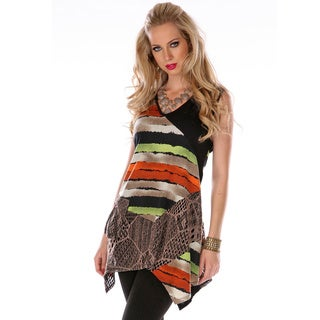 Women's Multi-print Spliced Tunic