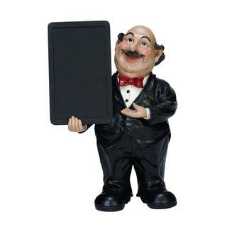 Black Polystone Waiter Chalkboard