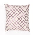 Handmade Purple Cotton 20x20-inch Throw Pillow