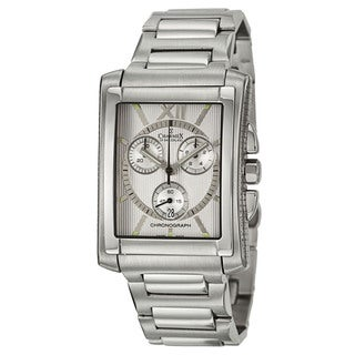Charmex Men's 'Milano' Silvertone Stainless Steel Chronograph Watch