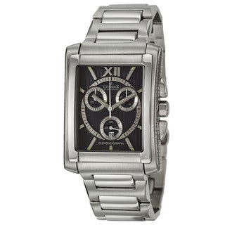 Charmex Men's 'Milano' Stainless Steel Bracelet Chronograph Watch