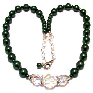 24-inch Evergreen Faux Pearl Wedding Jewelry Set