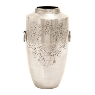 Patterned Nickel-plated Decorative Vase