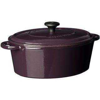 Fontignac 4.6-quart Aubergine Oval French Oven
