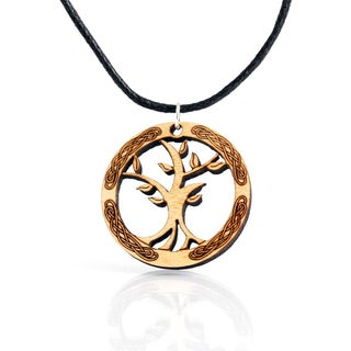 Tree of Life Leather Cord Necklace (Ireland)