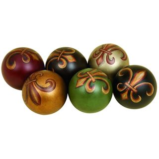 Multicolor Ceramic Balls (Set of 6)