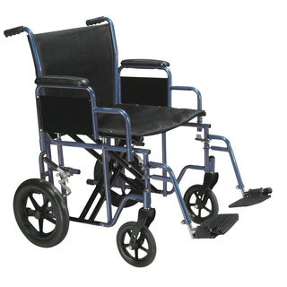 Bariatric Heavy Duty with Swing Away Footrest Transport Wheelchair