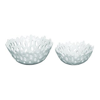 White Coral Bowls (Set of 2)