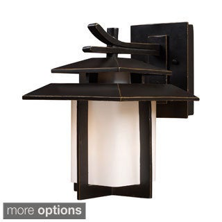 Kanso 1-light Hazelnut Bronze Outdoor Sconce