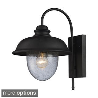 Streeside Cafe 1-light Matte Black Outdoor Sconce