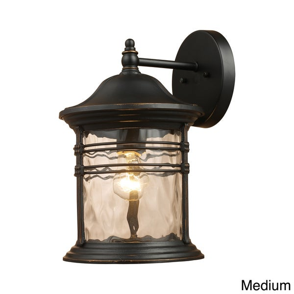 Madison 1-light Matte Black Outdoor Sconce