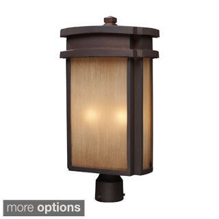 Clay Bronze Outdoor Post Light