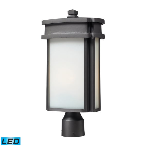 1-light LED Graphite Outdoor Light Post