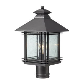 1-light Outdoor Graphite Post Light