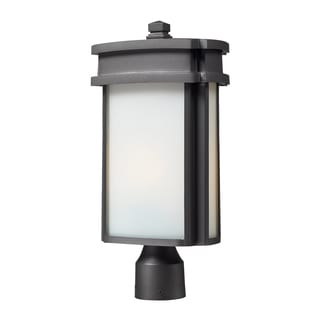1-light Graphite Outdoor Post Light
