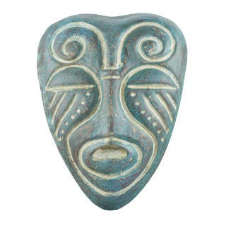 Timbergirl Vintage Blue African Tribal Mask (India)