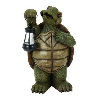 Polystone Turtle with LED Light