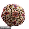 Medallion Design Round Floor Pillow (India)