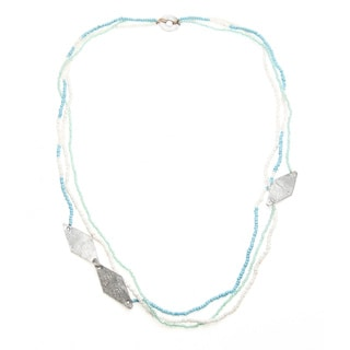 Skyline Blue Triple-strand Beaded Necklace (Uganda)