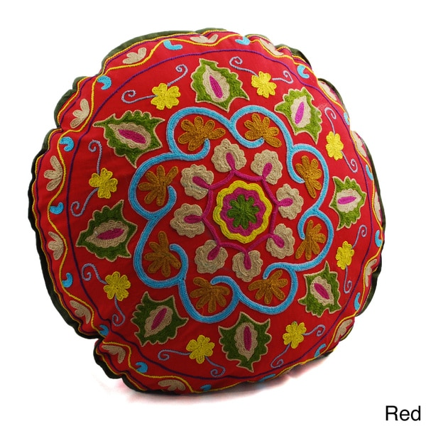 Decorative Pillows To The Trade : Swirl Design Round Floor Pillow (India) - 15902961 - Overstock.com Shopping - The Best Prices on ...