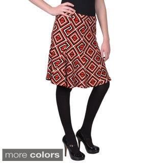 Journee Collection Junior's Printed Flare Skirt