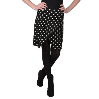 Journee Collection Junior's Polka-dot Wrap Skirt