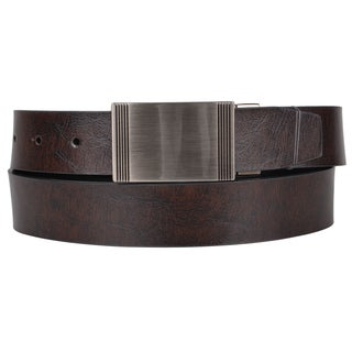 Joseph Abboud Men's Genuine Leather Reversible Belt with Buckle Closure