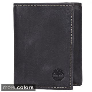 Timberland Men's Genuine Leather Trifold Wallet with One ID Window