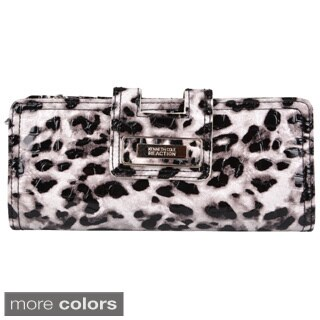 Kenneth Cole Reaction Women's Leopard Print Tab Clutch with Wristlet