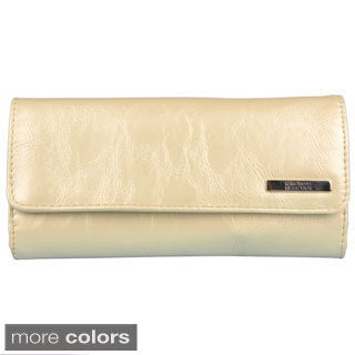 Kenneth Cole Reaction Women's Elongated Clutch Wallet with Faux-Leather Exterior