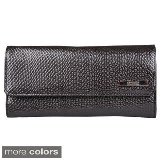 Kenneth Cole Reaction Women's Metallic Elongated Clutch Wallet with One Exterior Pocket