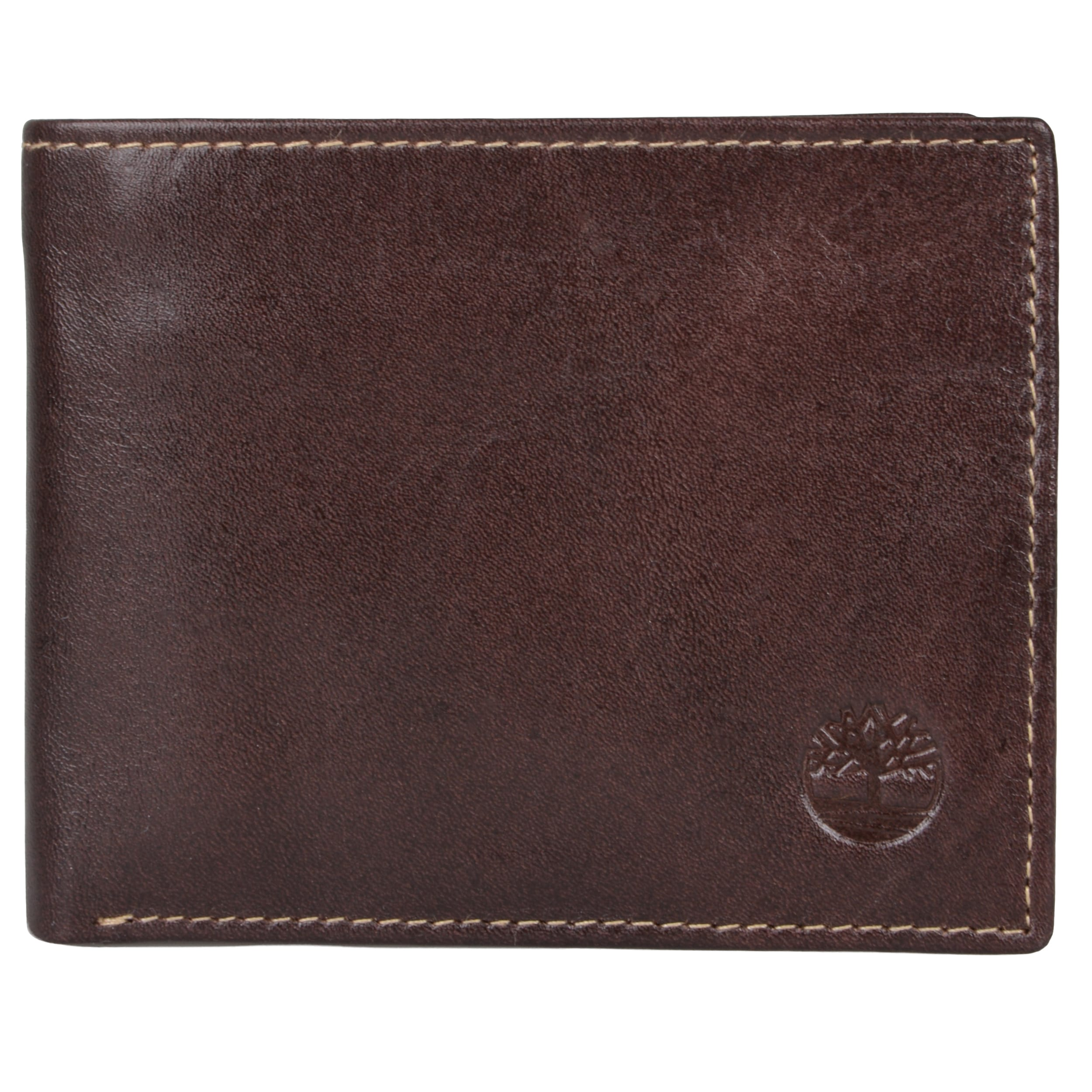Timberland Men's Genuine Leather Bifold Passcase Wallet with One Cash Pocket